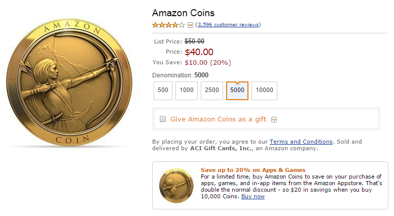Deal Alert Amazon Coins For Apps And In App Purchases