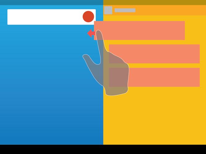 multi-fenetrage android, Le multi-fenêtrage sur Android 5.0 L en images