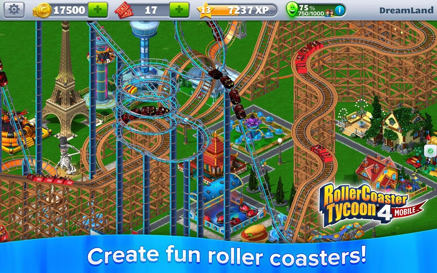RollerCoaster Tycoon 4 Mobile Mixes Classic Game Mechanics