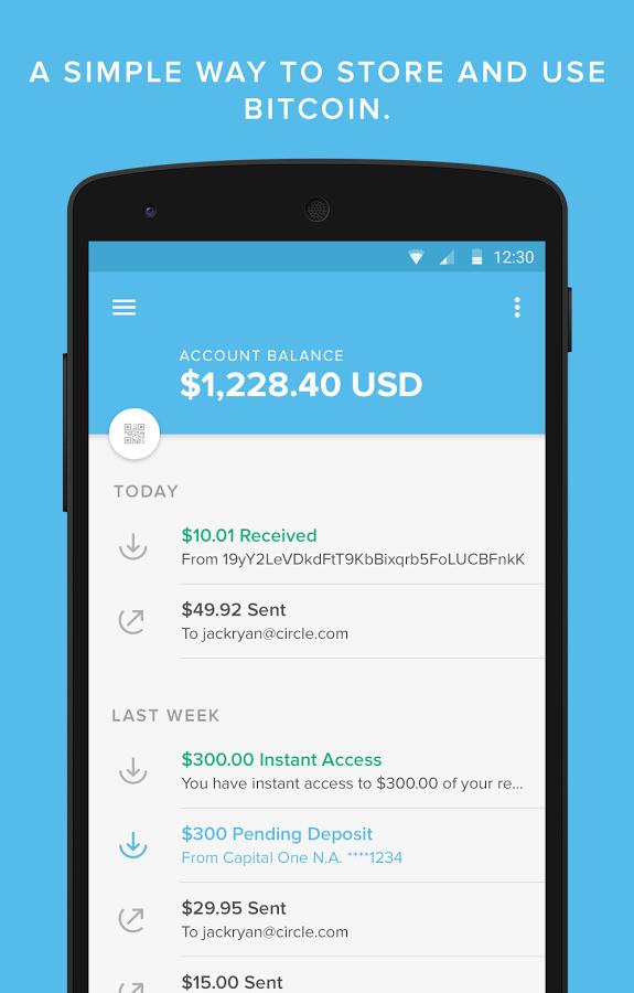 circle app bitcoin