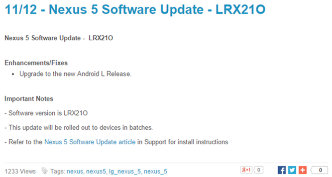 2014-11-12 12_15_26-Sprint Community_ 11_12 - Nexus 5 Software Update - LRX21O
