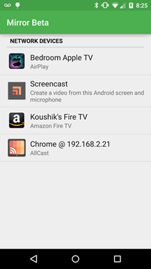 Koush Releases New Mirror Beta With Screen Recording And Mirroring