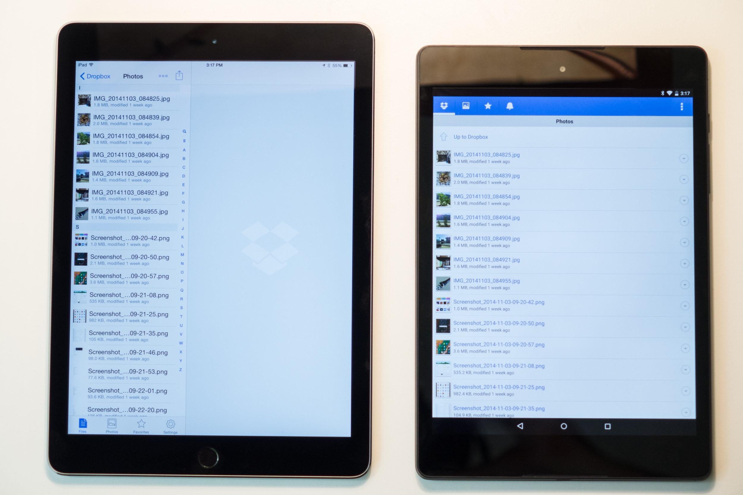 nexus 9 vs ipad air 2 a mostly subjective comparison