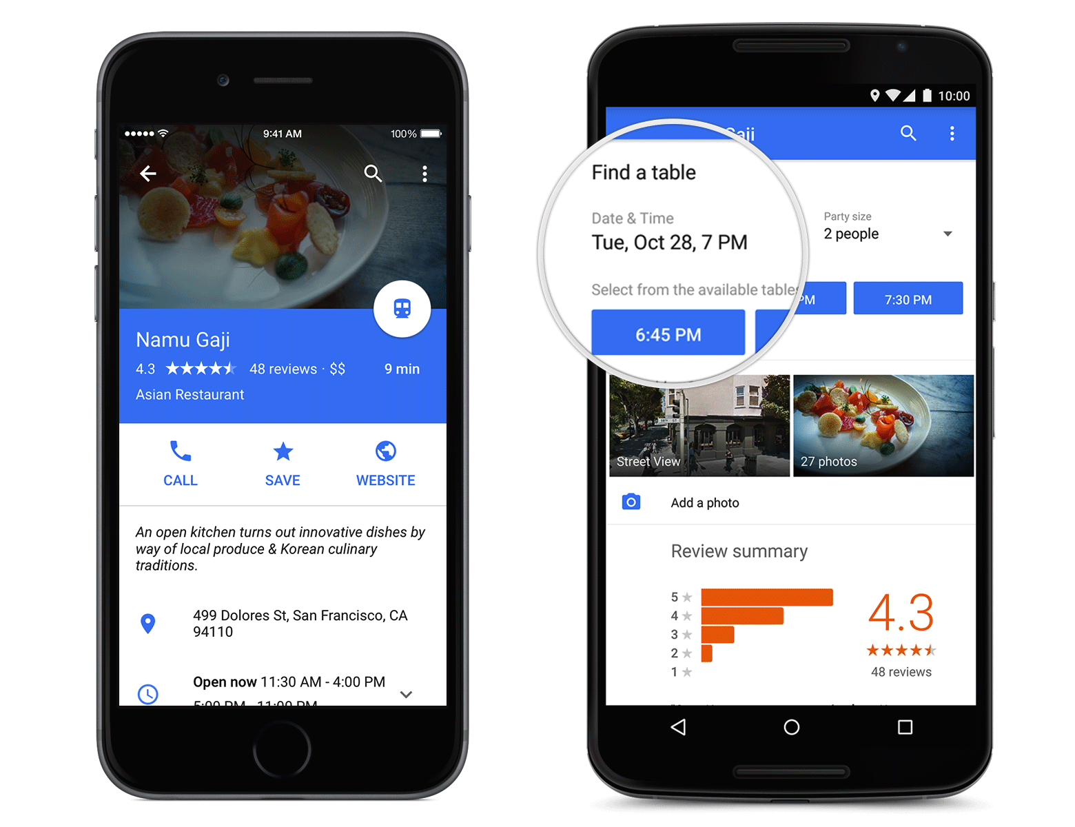 Android Restaurant App Design : Update apk material redesign of google maps app rolling