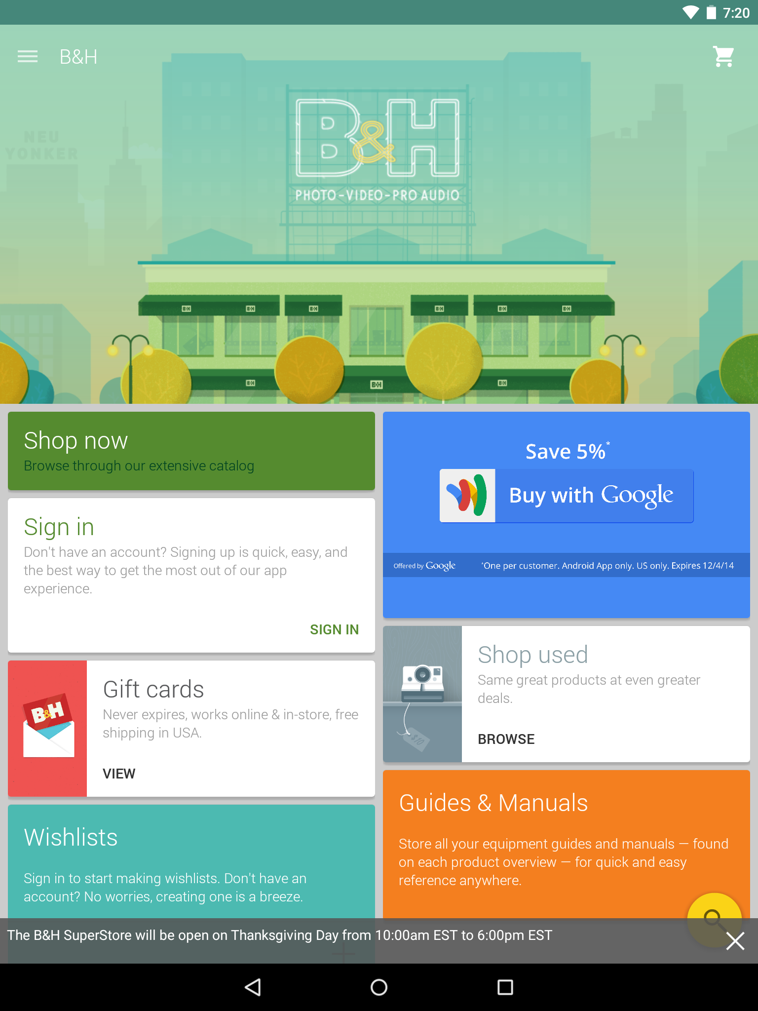 B&H App Gets Big Material-Inspired Makeover [Update: New Icon Too]