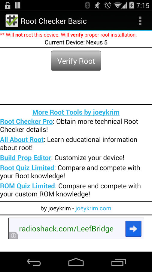 root checker pro apk 2018 download