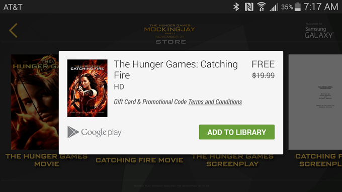 Recent Samsung Owners Can Get The Hunger Games And
