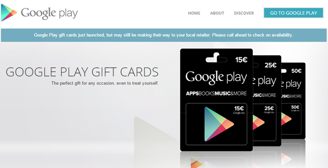Google Play Store Gift Cards Are Finally Available In Belgium ...