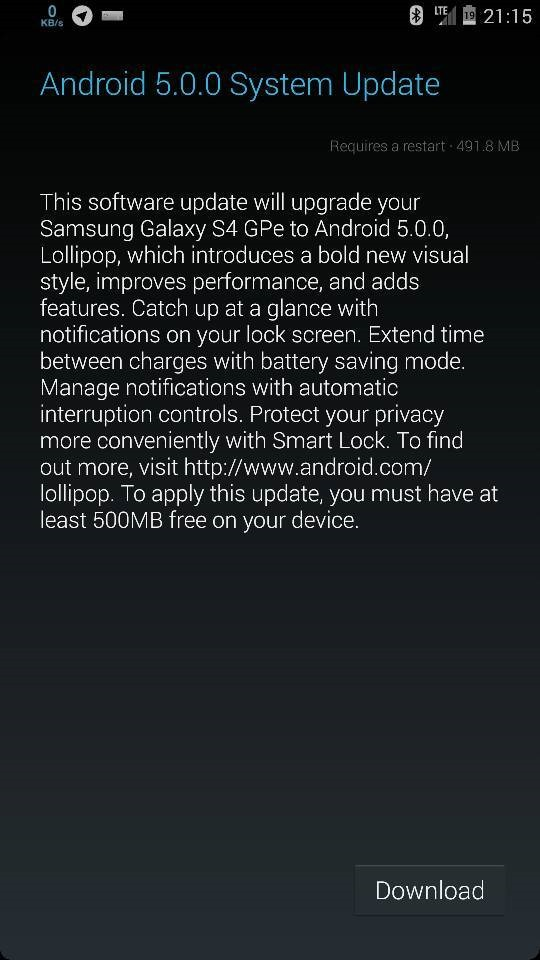 Update: ZIP File] Galaxy S4 Google Play Edition Is Getting