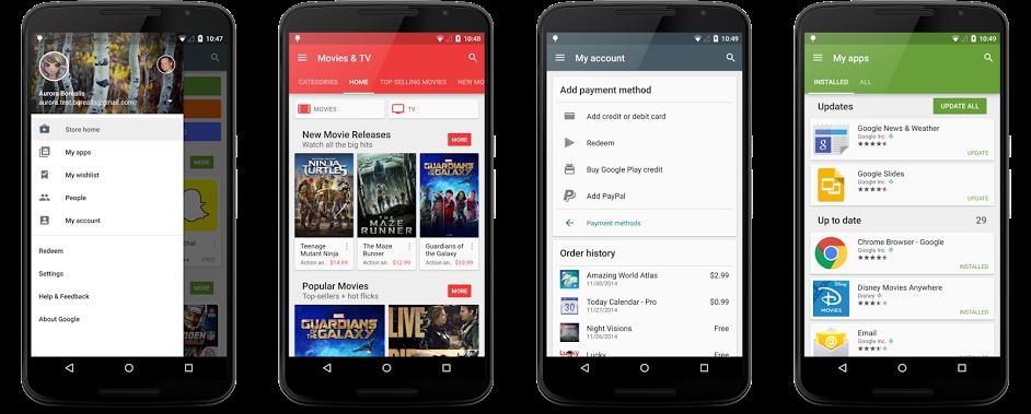 [APK] [26-MAY-2015] Google Play Store v5.6.6 ~ Nejnovější verze, unmodded Nexus2cee_new-in-5.1-resized