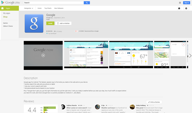 the google play store s app page layout on the web has changed for