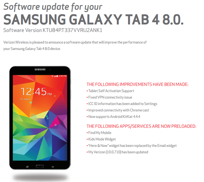 at&t samsung galaxy s4 software update