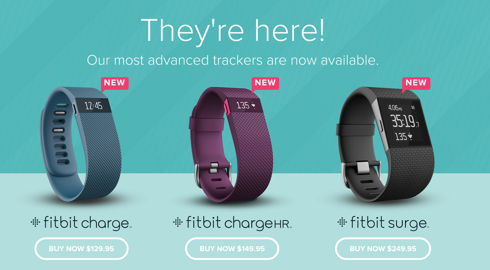 Fitbit Starts Shipping The Charge HR And Surge Fitness ...