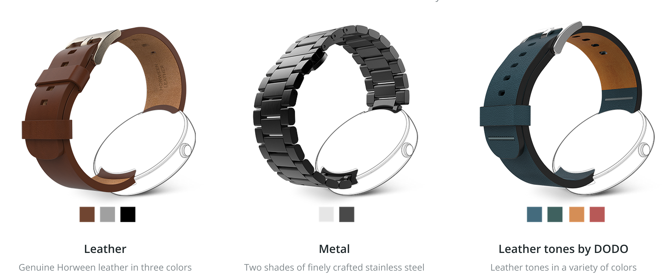 how to add links to moto 360 metal band