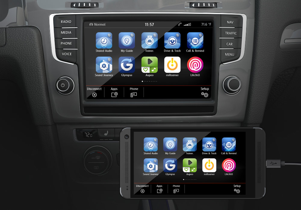 some volkswagen cars will support both android auto and. Black Bedroom Furniture Sets. Home Design Ideas
