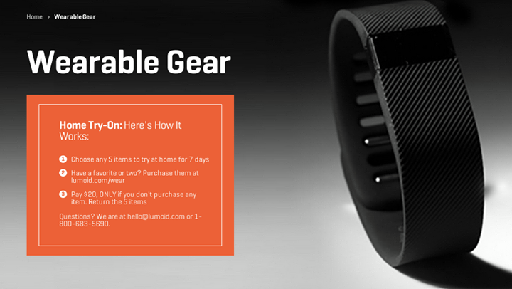 Lumoid Lets You Try A Box Of 5 Wearables For A Week: Free If You Then Decide To Buy One Of Them, $20 If You Don't