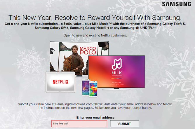 Get A Free Year Of Netflix And Milk Music Premium When You Buy A New