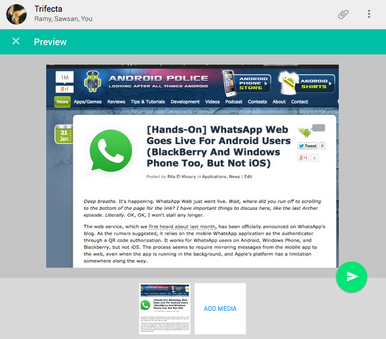 Hands-On] WhatsApp Web Goes Live For Android Users