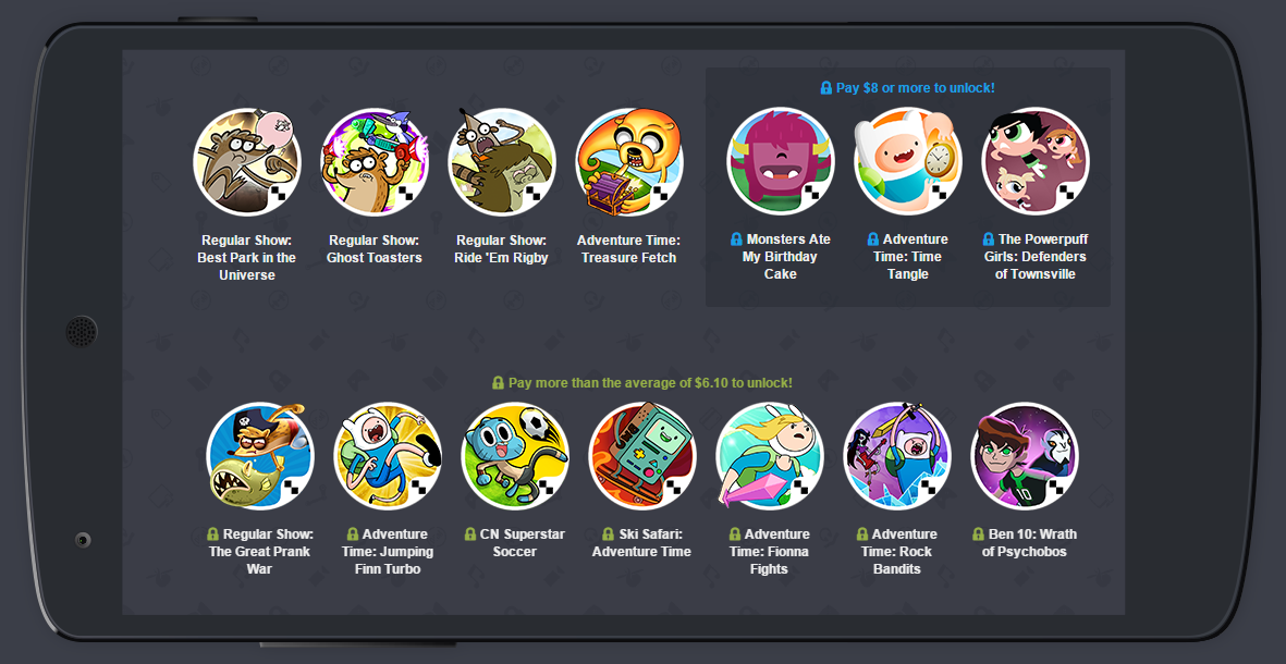 Update  Winners  Humble Cartoon Network Mobile Bundle