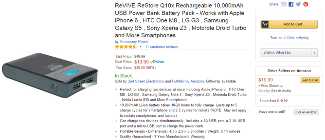 Amazon.com_ ReVIVE ReStore Q10x Rechargeable 10,000mAh USB Power Bank Battery Pa