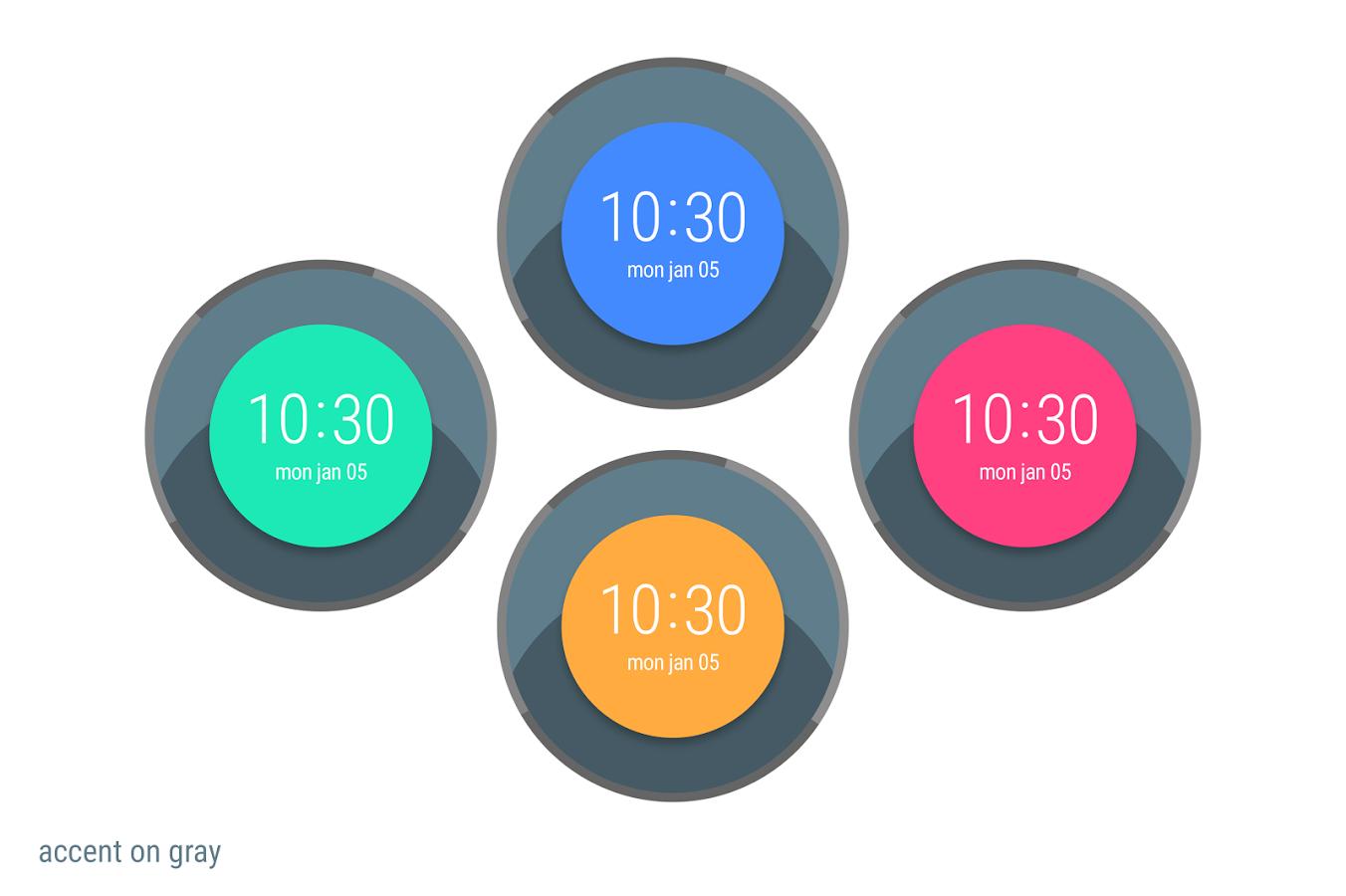 Designer android wear watchface - 1 2 3 4
