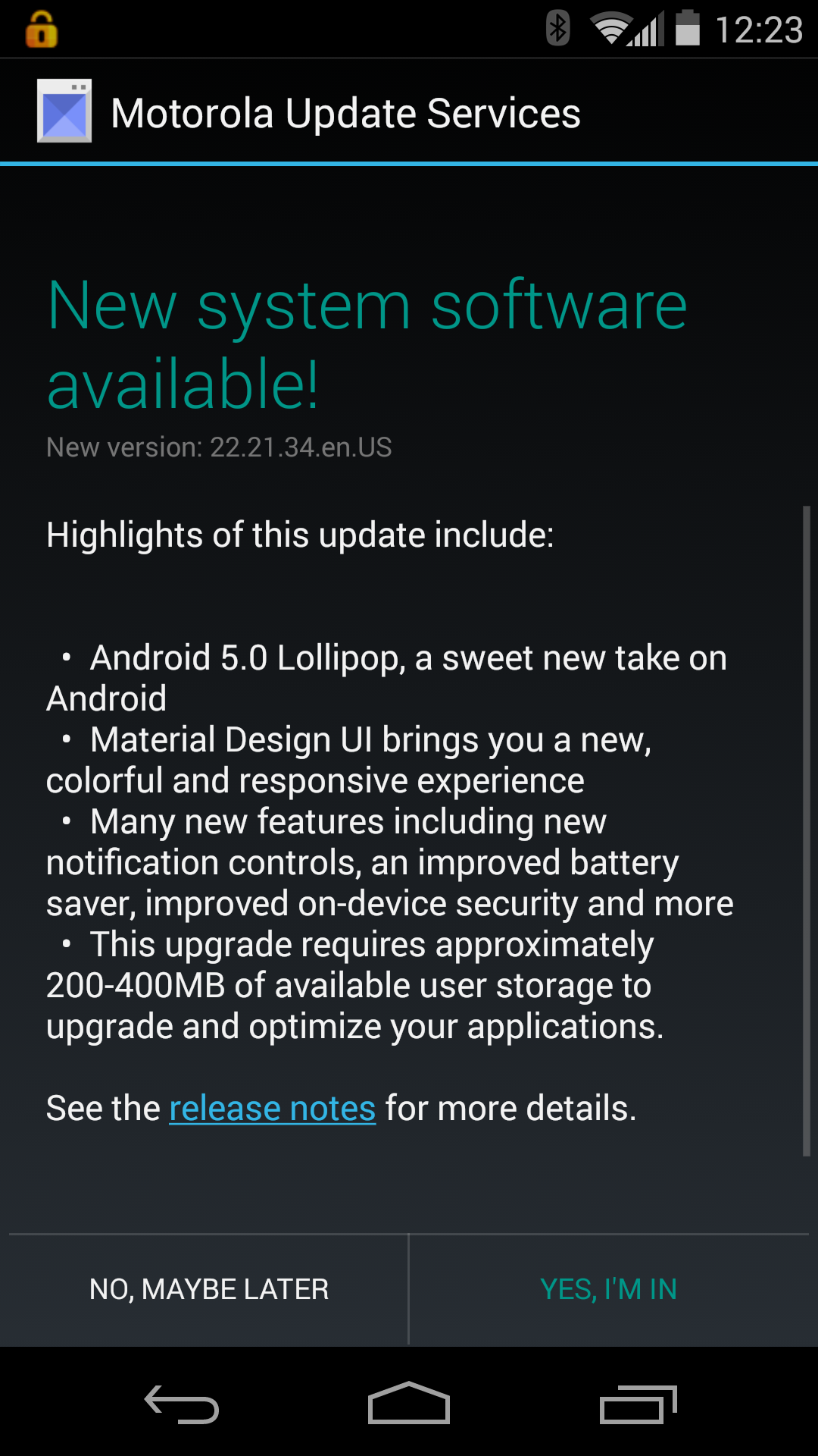 Lollipop Update For Moto X 2nd Gen On At T Shows Up Over Three Months Late To The Party