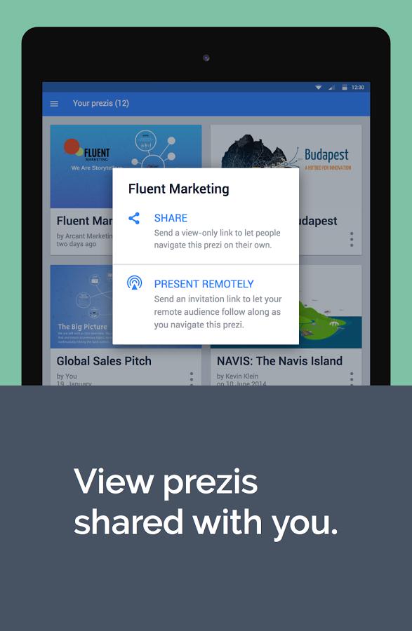 how to create a prezi on the app