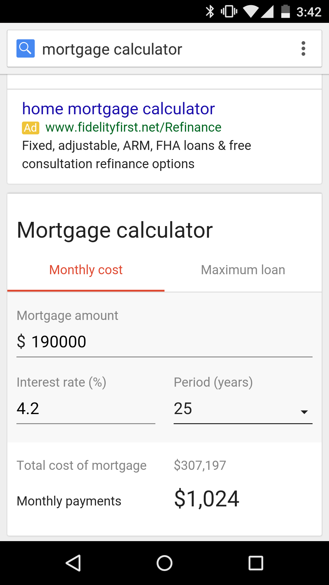 google search u0026 39 s new mortgage calculator can help you plan beyond the down payment