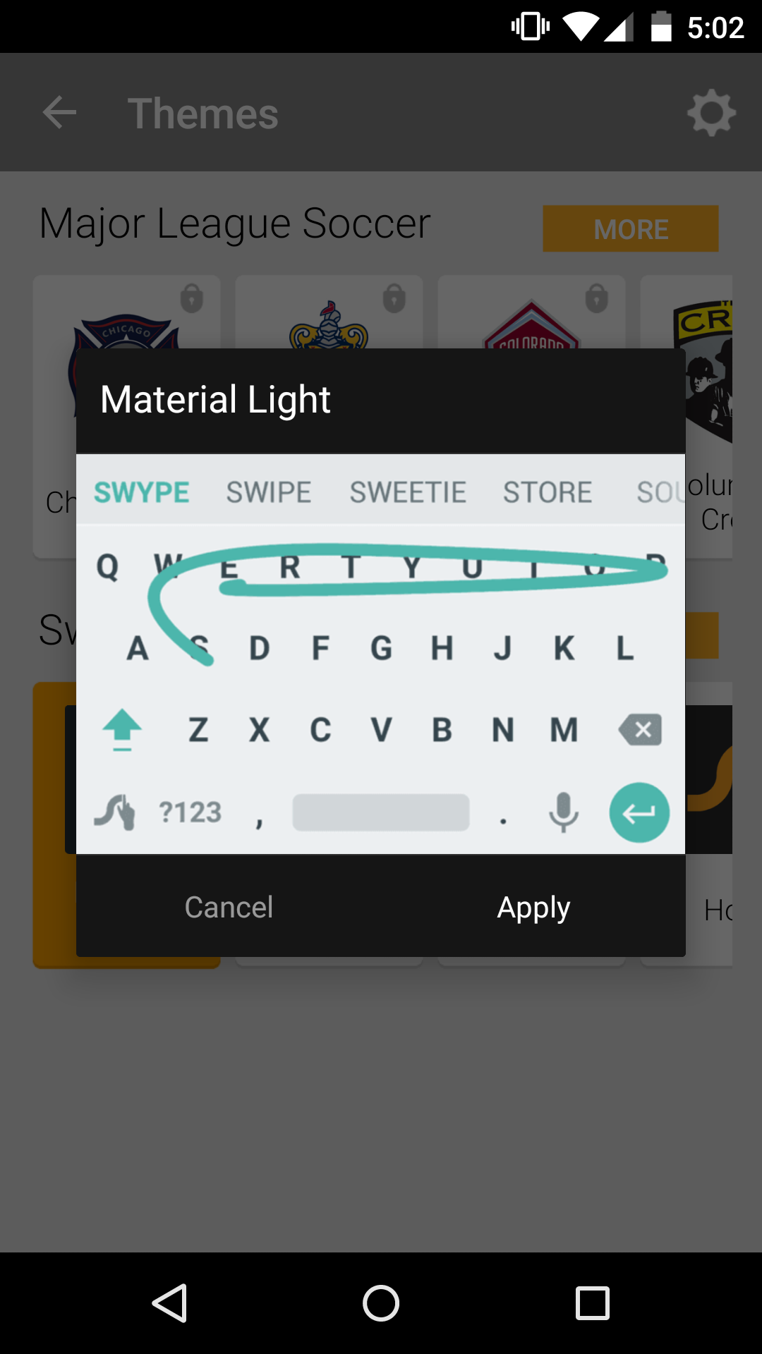 Swype version 18 introduces three new themes a floating keyboard tablet users can now detach their swype keyboard from the bottom of the screen and move it around however they like it might make typing a little more voltagebd Choice Image