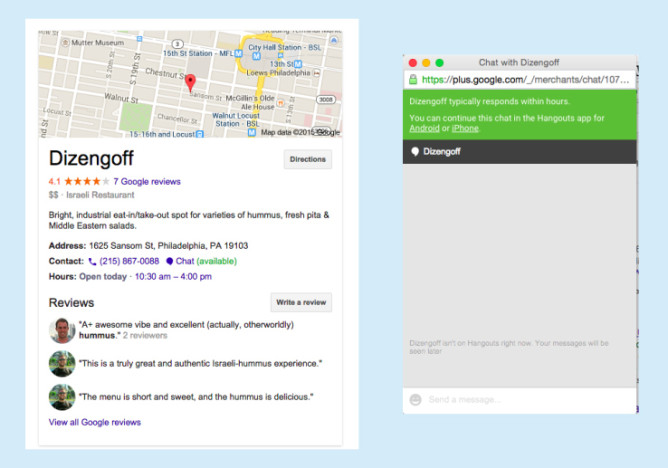 google-places-chat
