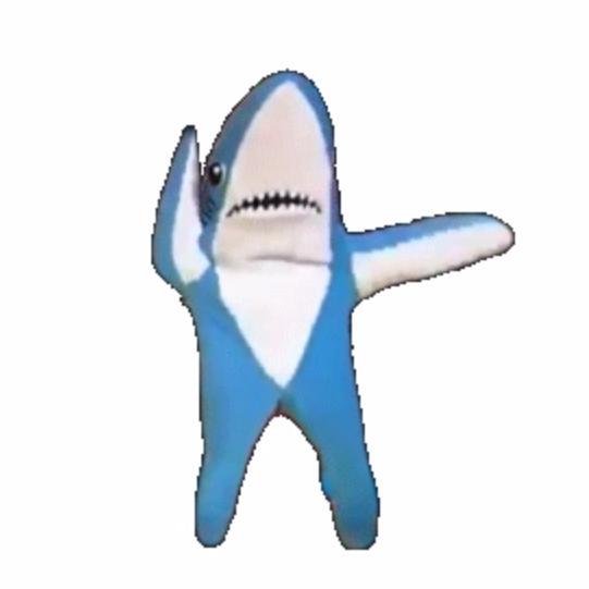 Танец акулы гифка, смыслом надписями