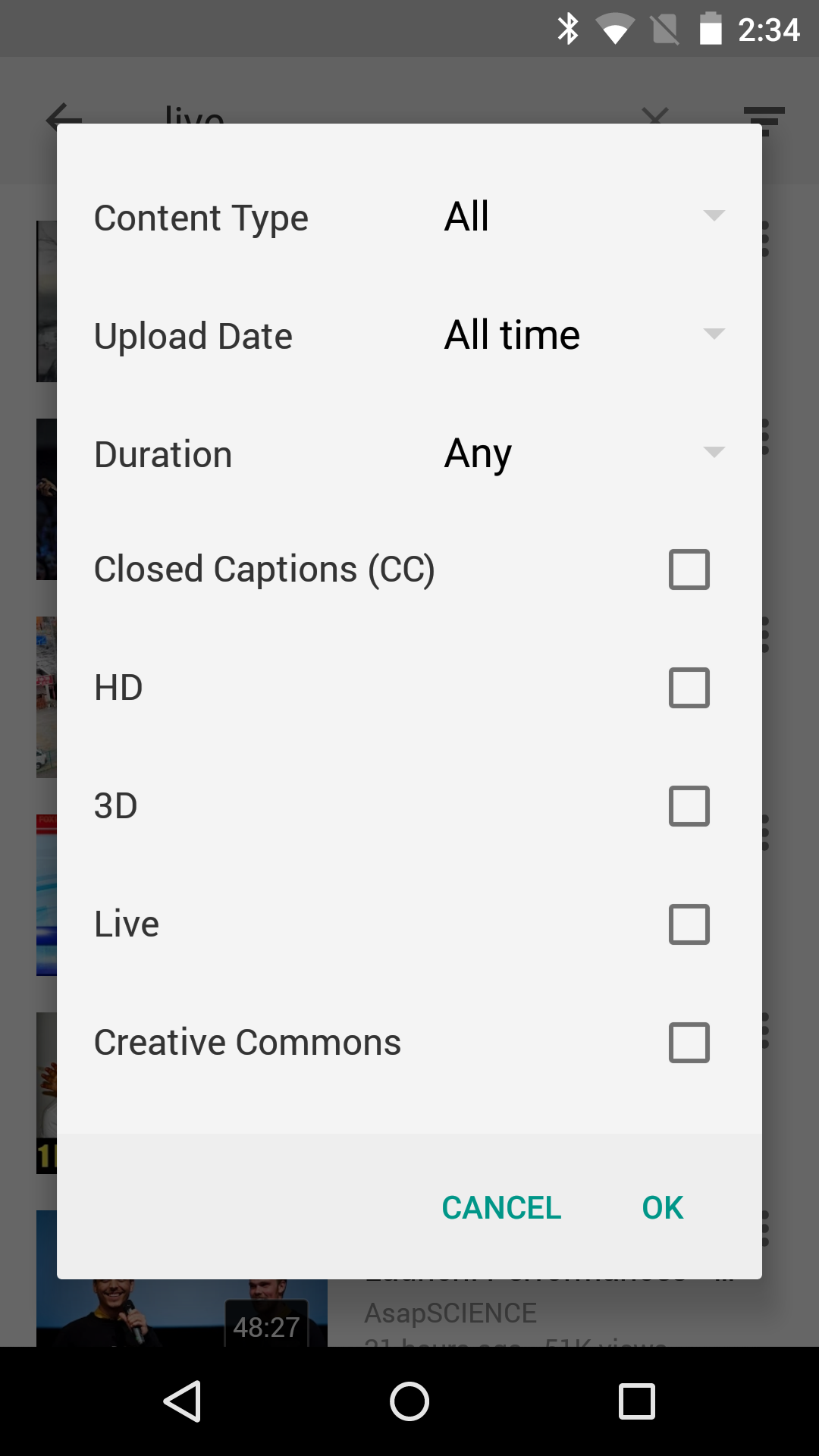 YouTube Updated To v10 10 With Option To Search For 4K