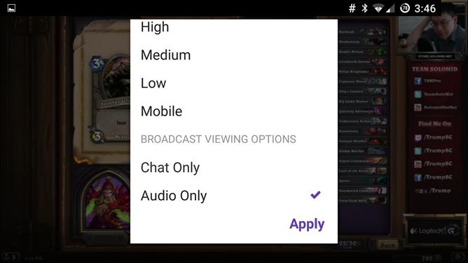 Twitch best audio options