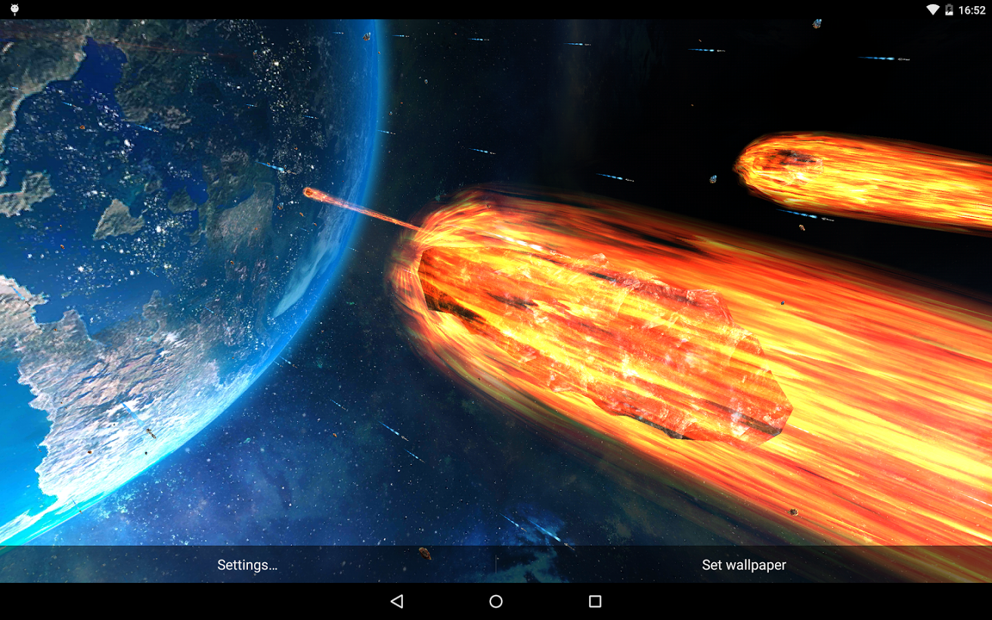 watch the world end with the new 'armageddon' live wallpaper from