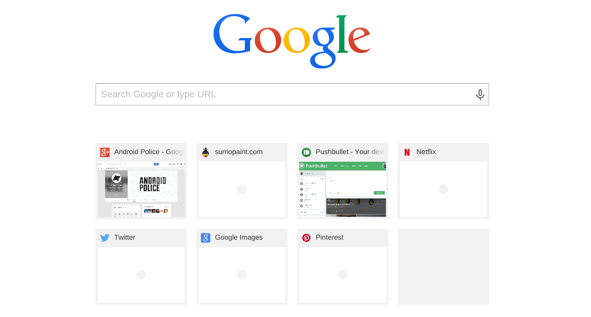 Chromium Team Currently Developing Experimental New Tab Page That