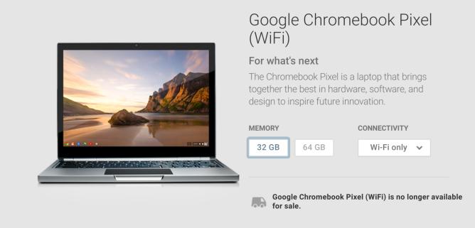 ChromebookPixelUnavailable