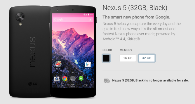 Nexus5Unavailable