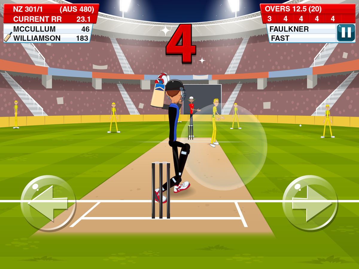Stick Cricket 2 Swings Right Then Left Then Right Into