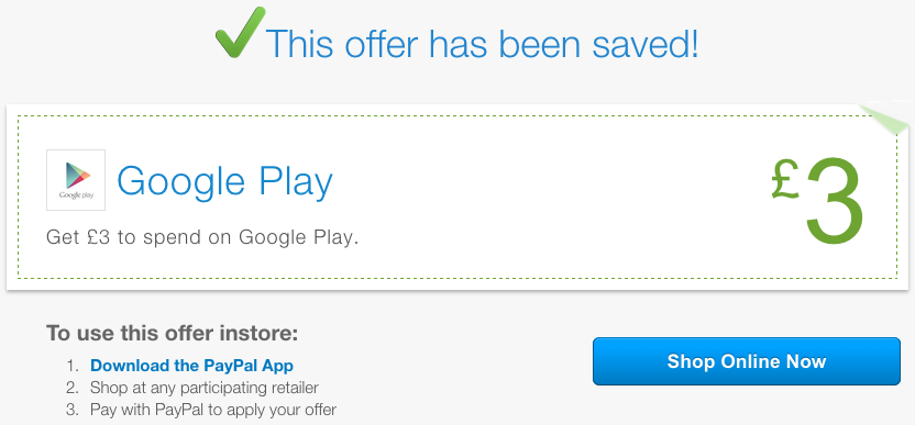 [Deal Alert] Paypal Is Giving Away £3 To Spend On Google Play In The UK