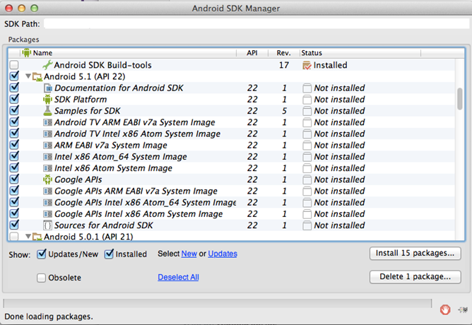 sdkmanager
