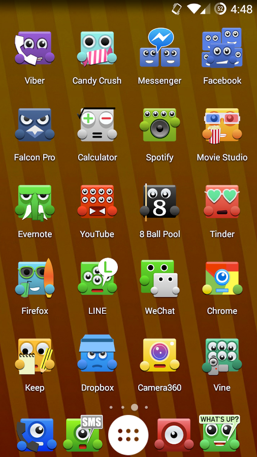 Upbeat Monsters Icon Pack Fills Your Homescreen With Adorable Googly