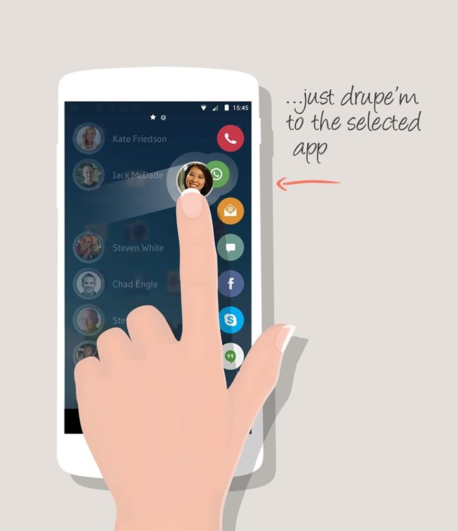 Drupe Gives Boring Phone Contacts A Contextual Gesture