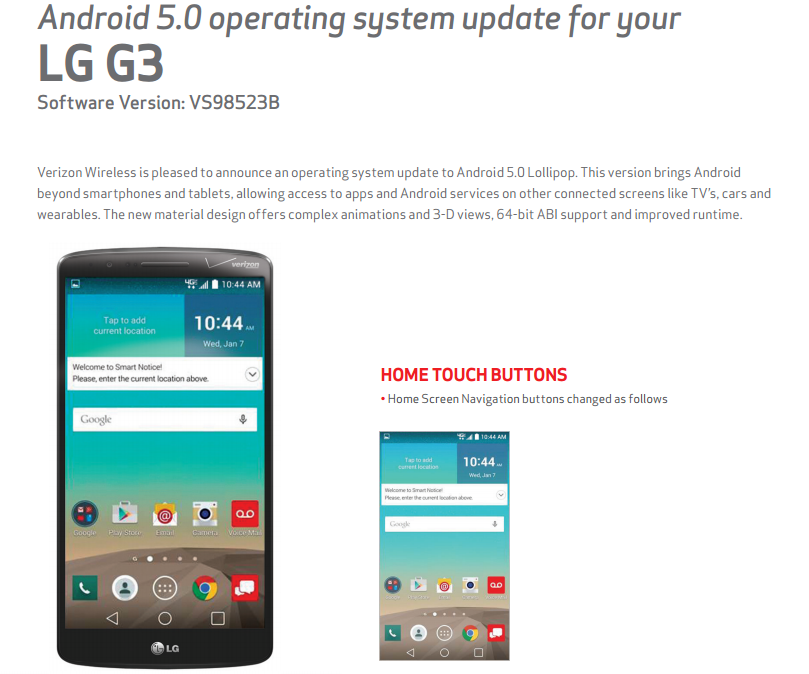 Verizon's LG G3 Is Finally Getting Its Android 5.0 Update