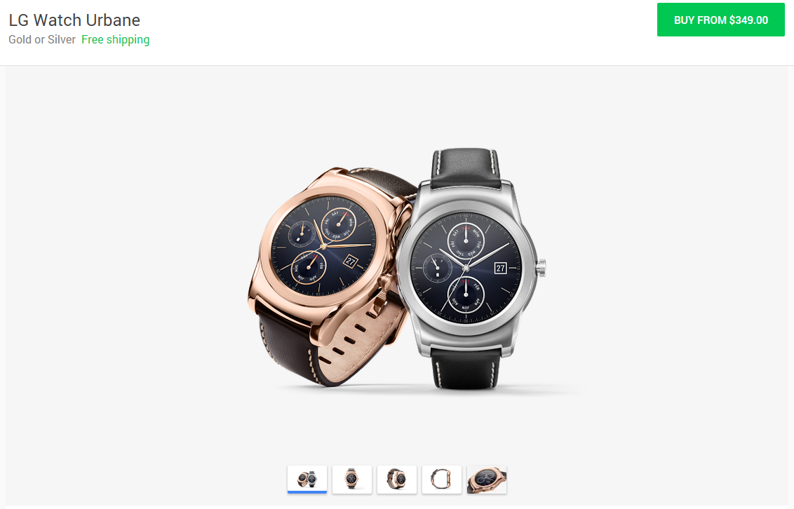 LG Watch Urbane Is Now Available In The Google Store For ...