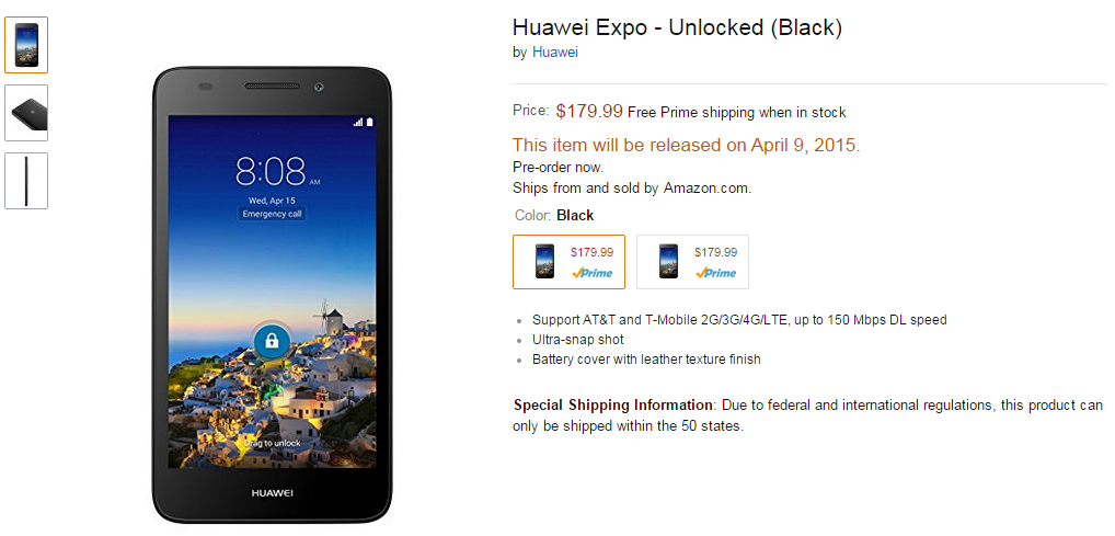 New Budget Huawei Device For US Pops Up On Amazon, Looks ...