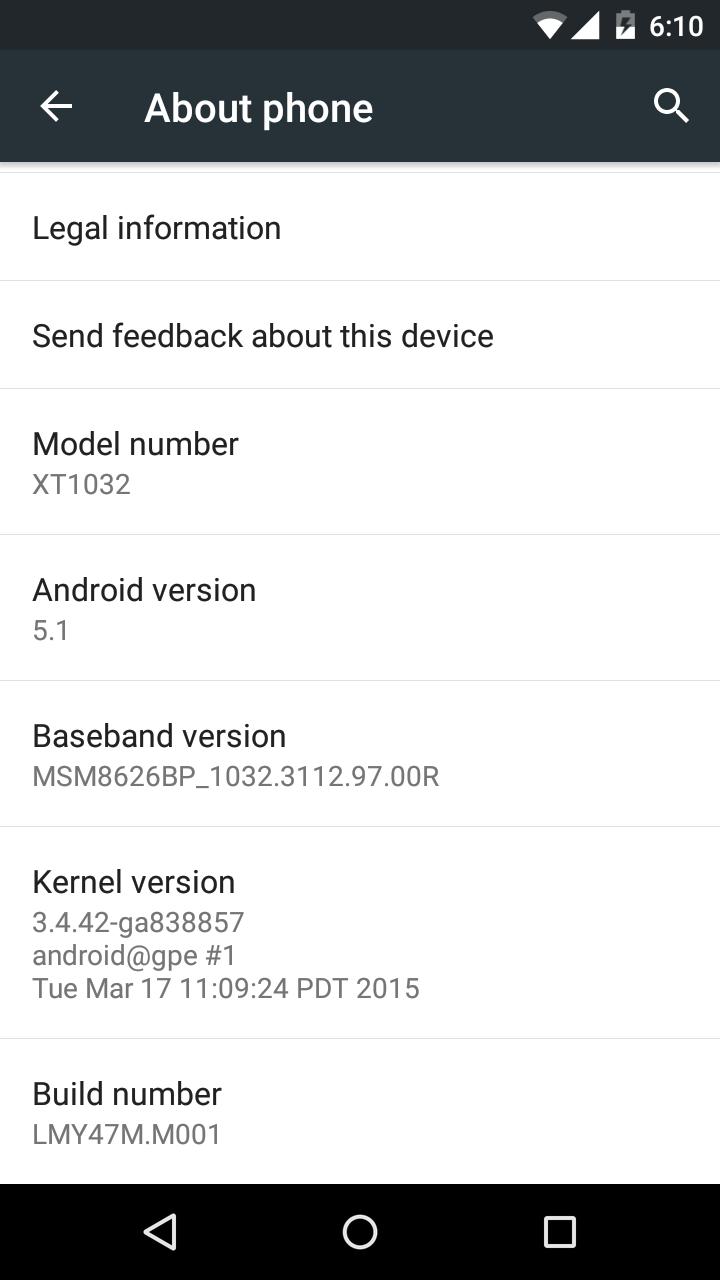 ROM OTA Moto g GPE 5.1 Capturada + Instalación actualizado