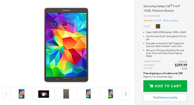 if thats not cheap enough for you and its still not all that cheap amazon has the galaxy tab s 105 for 20 less as is its wont