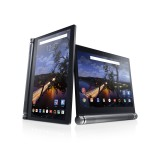 Two Dell Venue 10 7000 Series (Model 7040, codename Eagle Peak) Android tablet computers shown on a white beauty background, one in vertical/portrait position and one in horizontal/landscape position.