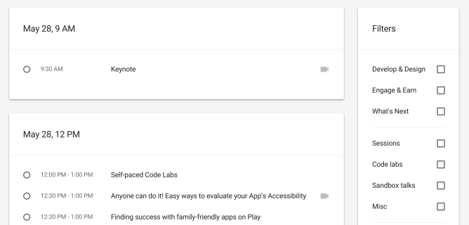 GoogleIO2015Schedule