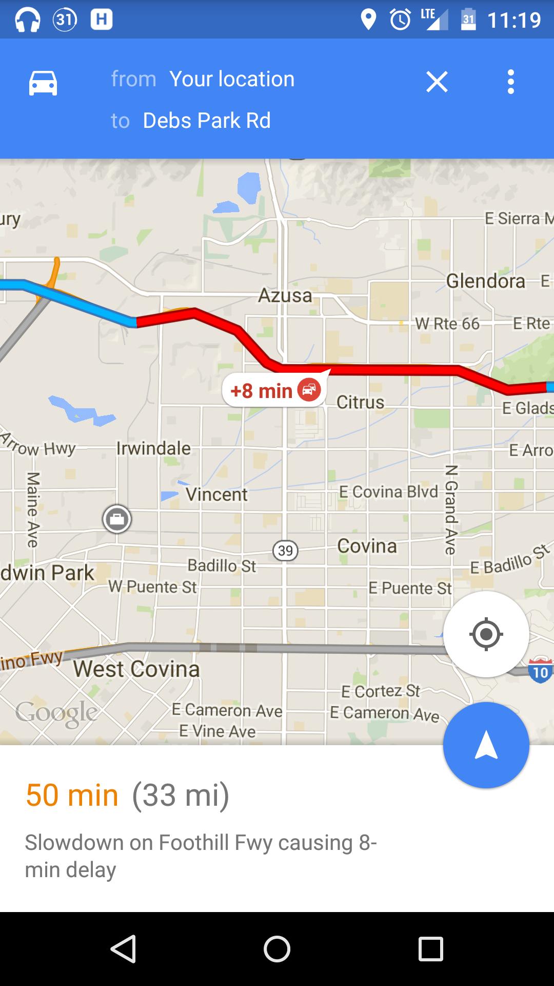update navigation summary alert too google maps v9 9
